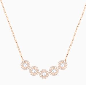 Angelic rose gold tone necklace